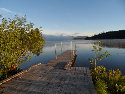 Seeley Lake cabin rental - Beautiful view off the dock