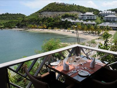 View from the 5 star on-site Bay restaurant run by Caribbean Chef of the year