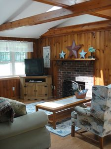 Yarmouth house rental - Living room with skylights