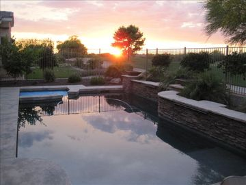 Gilbert house rental - Beautiful April Sunset from our backyard