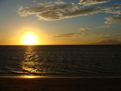 Enjoy the Maui Sunset from our beach