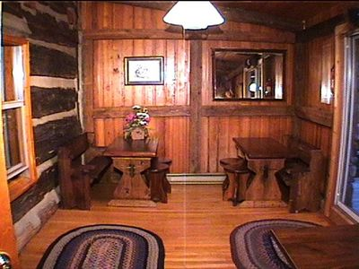 Beech Mountain house rental - Partial view of dining room capable of accommodating 32 people