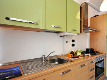 Kitchen with wide range of modern appliances