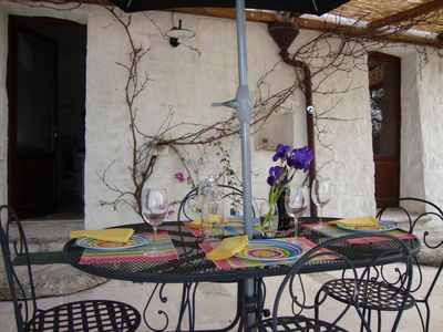 Ostuni farmhouse rental - Al fresco dining