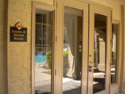 Scottsdale condo rental - Sauna and Steam Room Entrance