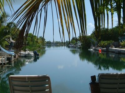 Sugarloaf Key - relaxing Dock View down canal to bay