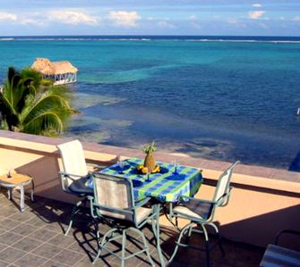 The rooftop is the perfect place to relax and view the amazing barrier reef