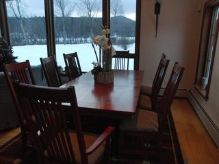 Stowe townhome photo - Dining room table seats 8