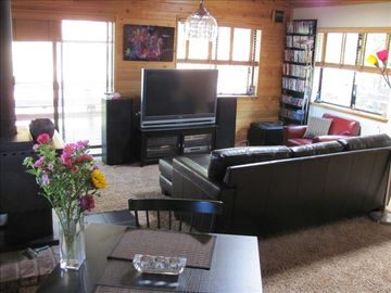 Relax in the living room-- with a book or the big screen tv