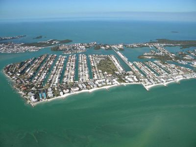 Aerial View of Key Colony Beach