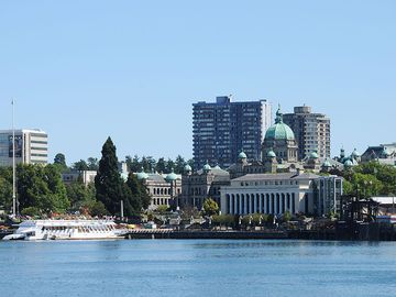 Great views of Victoria's Inner Harbour just steps from you front door