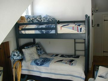 Twin Bunk room upstairs. Bathroom & laundry behind bed wall.