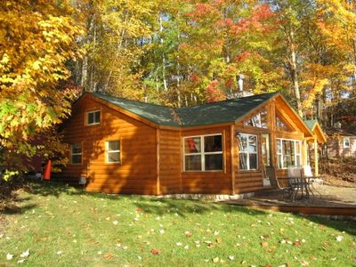 The cottage in the fall.