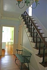 East Quogue house photo - Entrance hall with staircase.