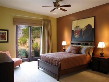 master suite overlooks oasis yard