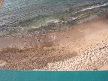 View from balcony straight down - YOU ARE ON THE BEACH!