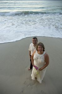 A stoll on the beach after being married! Beautiful place for wedding/honeymoon!