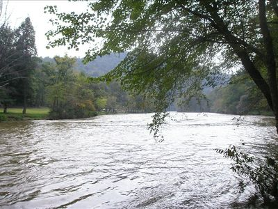 Hayesville cabin rental - Down by the river!
