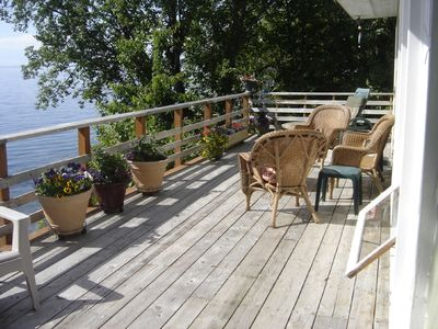 Comfortable seating on the west facing deck