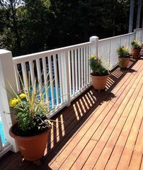 Provincetown condo photo - Private Landscaped Wrap-around Deck Overlooking the Pool