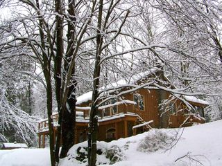 Woodstock cabin photo - Our house in the beautiful snow