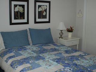 Casco house photo - This is the lakeside master bedroom w/1 queen