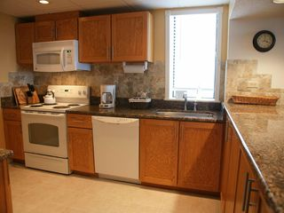 Virginia Beach condo photo - Kitchen has Window Looking Up the Beach