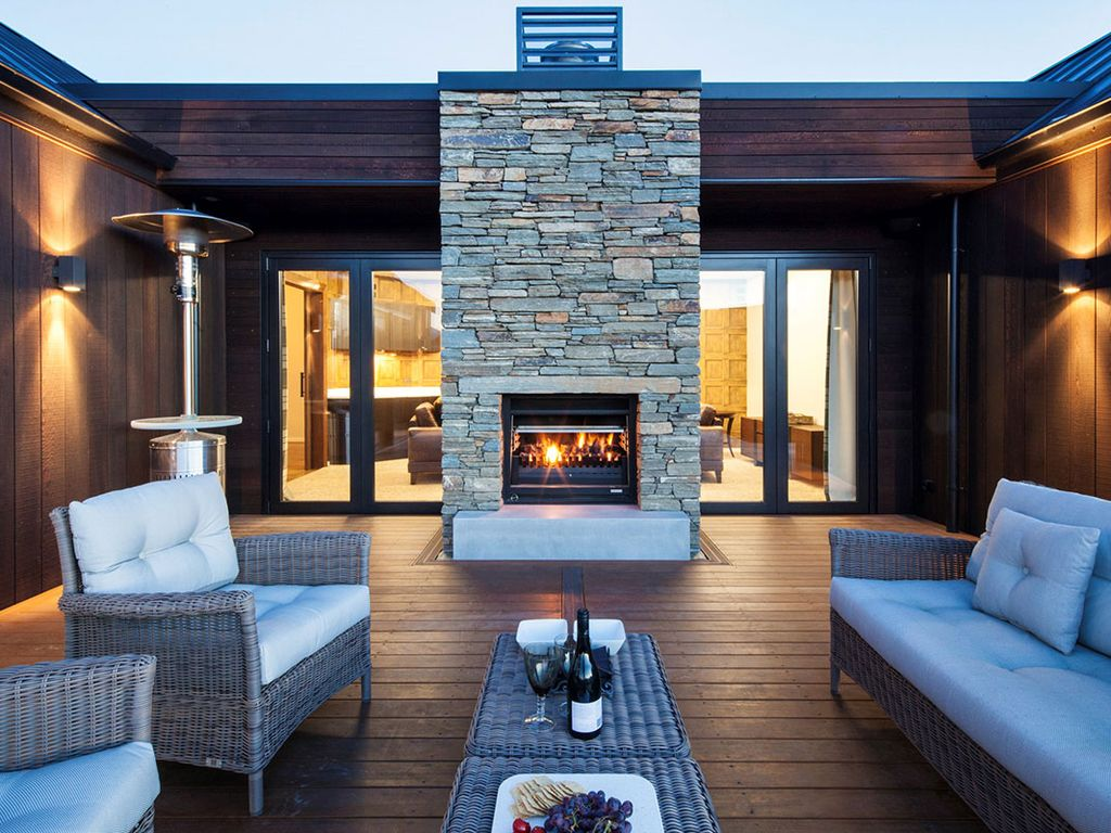 Living Room Bar And Terrace New Mountain View Villa With Outdoor Living Bar Fire Pit