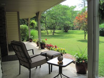 Relax on the front porch with your morning cofee...