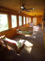Branson cabin photo - A sweet place to catch up on busy lives. Two large porch swings.