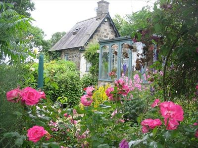 Conservatory and rose garden