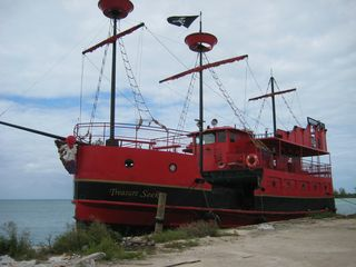 A ship visiting the dock in Smith's Bay. - Cat Island house vacation rental photo