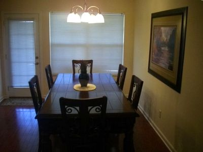 Pigeon Forge cottage rental - Dining Room comfortably seats 6. Screened porch is just outside the door.