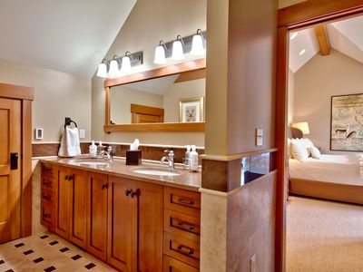 Master Bath - two sinks, jetted tub, shower