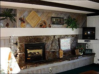 Breckenridge condo photo - Nice Living Area with Gas Fireplace