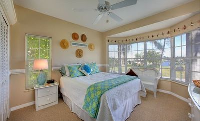 Marco Island house rental - Bedroom 2 with a bay window