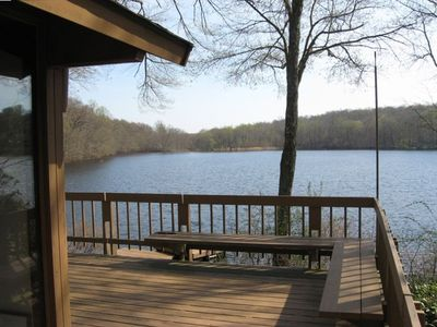 From the expansive deck to the lake