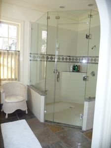 Large master shower.