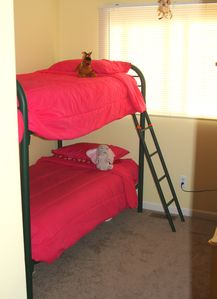 Our third bedroom features Sealy bunk beds. Children and grown children welcome.