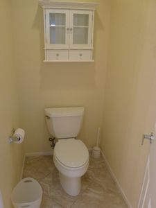Master bathroom separate toilet stall