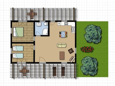 Vassilikos villa rental - Floor Plan (Contact Us From More Details)