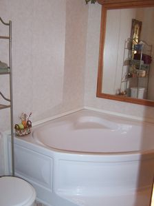 Soaker tub in the Master Bath