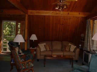Somesville chalet photo - Open Living Dining area on upper level. Southern Exposure