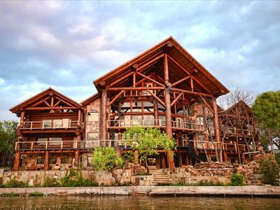 Big Timber Lodge Log Home Lake Lbj Pool Sleeps 35
