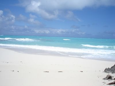 Great Exuma house rental - Enjoy Caribbean Blue Waters from the virtually private Beach