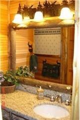 Lake Placid condo photo - Rustic Bath-with Jacuzzi 2 person tub
