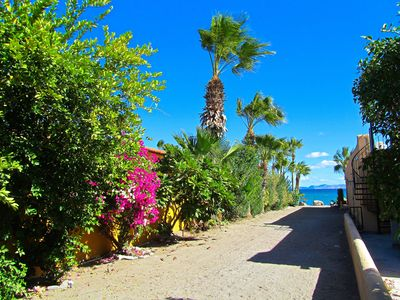 Walkway to Beach and Sea of Cortez directly off your Front Steps