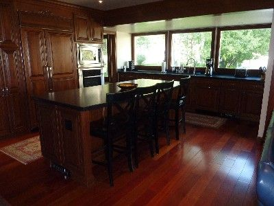 Gourmet Kitchen, views of Rendezvous Mountain, Brazilian Cherry Wood Floors