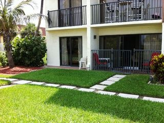 Cocoa Beach condo photo - Patio and Courtyard outside master slider