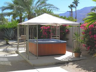 Palm Springs house photo - Large Private Covered Spa Convenient to Pool and Master Suite.